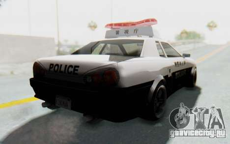 Elegy Japanese Police для GTA San Andreas вид справа