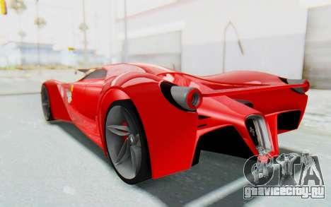Ferrari F80 Concept 2015 Beta для GTA San Andreas вид слева
