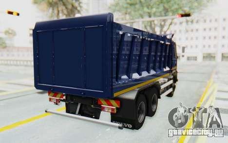 Volvo FMX 6x4 Dumper v1.0 Color для GTA San Andreas вид сзади слева