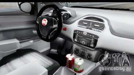 Fiat Linea 2014 для GTA San Andreas вид изнутри