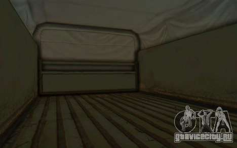 MGSV Phantom Pain BOAR 53CT Truck Roof для GTA San Andreas вид сзади