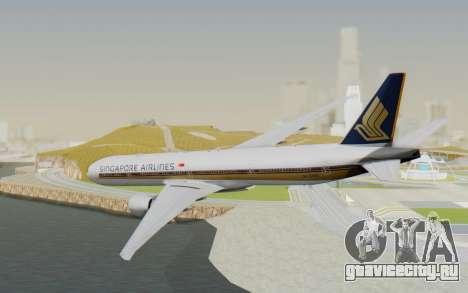 Boeing 777-300ER Singapore Airlines v1 для GTA San Andreas вид слева
