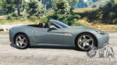 Ferrari California Autovista для GTA 5 вид слева