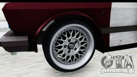 Zastava Yugo Koral Rat Style для GTA San Andreas вид сзади