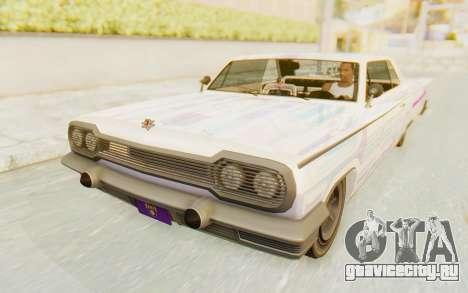 GTA 5 Declasse Voodoo SA Lights для GTA San Andreas вид сверху