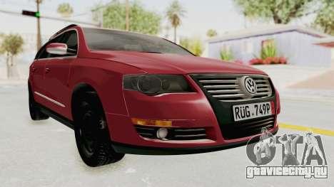 Volkswagen Passat B6 Variant для GTA San Andreas вид справа