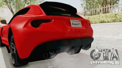 GTA 5 Grotti Bestia GTS v2 IVF для GTA San Andreas вид снизу