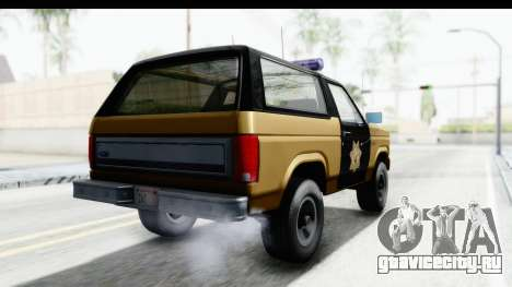 Ford Bronco 1982 Police IVF для GTA San Andreas вид сзади слева