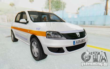 Dacia Logan Facelift Ambulanta для GTA San Andreas