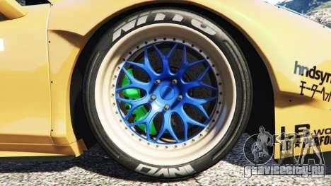 Ferrari 458 Spider [Liberty Walk] для GTA 5 вид сзади справа