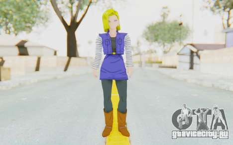 Dragon Ball Xenoverse Android 18 Jacket для GTA San Andreas второй скриншот