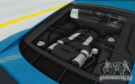 Audi R8 V10 2017 v2.0 для GTA San Andreas вид сзади