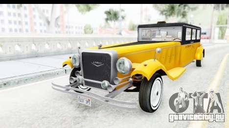 Unique V16 Fordor Taxi для GTA San Andreas вид сзади слева