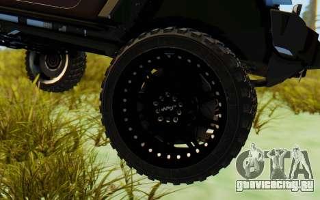 Jeep Wrangler Rubicon 2012 для GTA San Andreas вид сзади