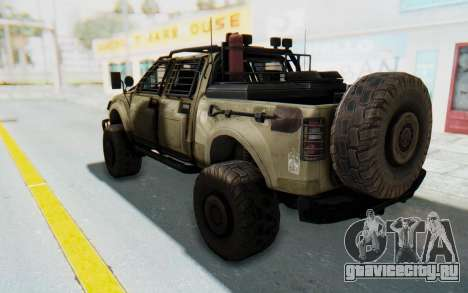 Toyota Hilux Technical Desert для GTA San Andreas вид слева