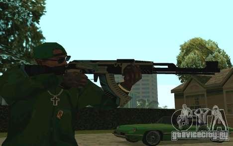 AK-47 Vulcan (SA) для GTA San Andreas второй скриншот