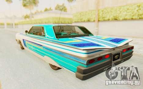 GTA 5 Declasse Voodoo SA Lights для GTA San Andreas вид сбоку