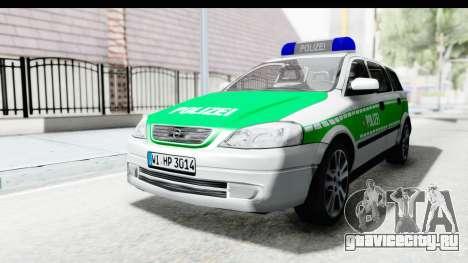 Opel Astra G Variant Polizei Bayern для GTA San Andreas вид сзади слева