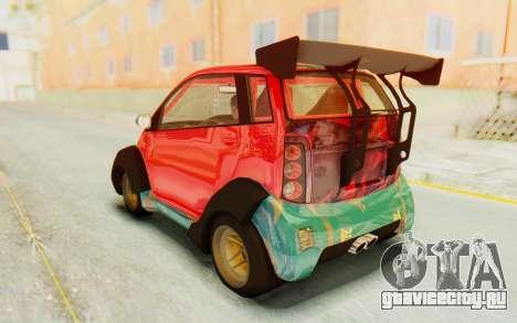 GTA 5 Benefactor Panto Custom для GTA San Andreas вид сбоку