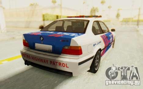 BMW M3 E36 Police Indonesia для GTA San Andreas вид слева