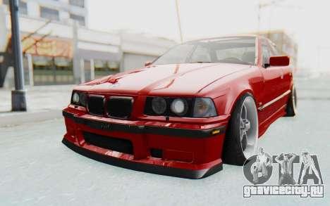 BMW M3 E36 2.5 TDS для GTA San Andreas вид сзади слева