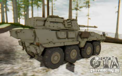 MGSV Phantom Pain STOUT IFV APC Tank v1 для GTA San Andreas вид сзади слева