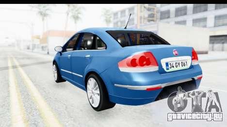 Fiat Linea 2014 Wheels для GTA San Andreas вид справа