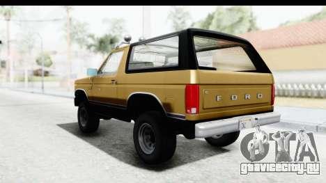 Ford Bronco 1980 IVF для GTA San Andreas вид справа