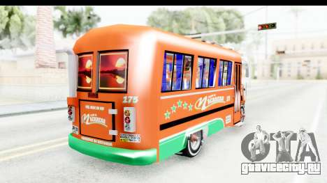 Dodge D600 v2 Bus для GTA San Andreas вид сзади слева
