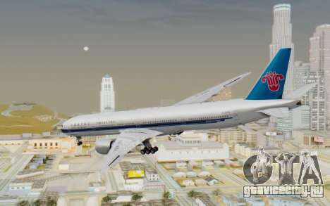 Boeing 777-300ER China Southern Airlines для GTA San Andreas вид слева
