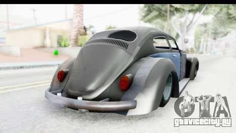 Volkswagen Beetle 1963 Hotrod для GTA San Andreas вид слева