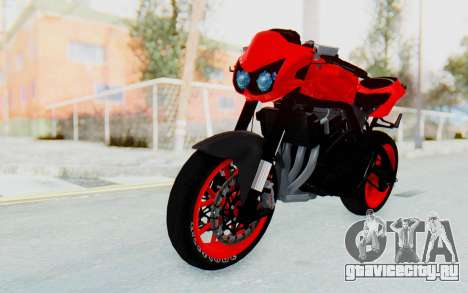 Kawasaki Ninja 250R Streetrace Naked для GTA San Andreas вид справа