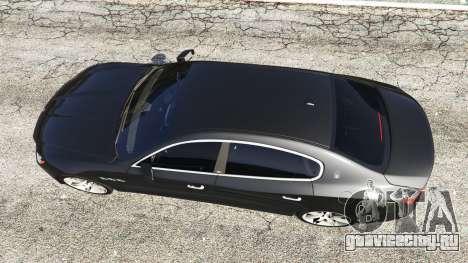 Maserati Quattroporte 2013 для GTA 5 вид сзади