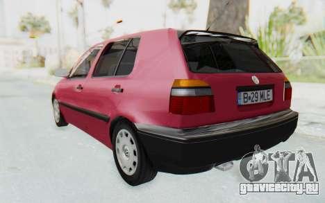 Volkswagen Golf 3 1994 для GTA San Andreas вид слева
