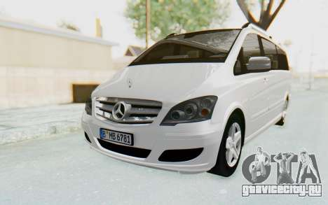 Mercedes-Benz Viano W639 2010 Long Version для GTA San Andreas вид сзади слева