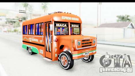 Dodge D600 v2 Bus для GTA San Andreas вид справа