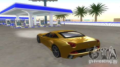 Ferrari California для GTA San Andreas вид изнутри
