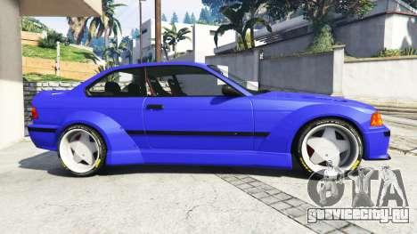BMW M3 (E36) Street Custom [blue dials] v1.1 для GTA 5 вид слева