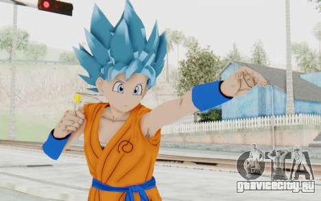 Dragon Ball Xenoverse Female Saiyan SSGSS для GTA San Andreas