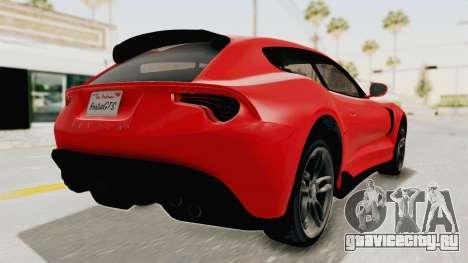 GTA 5 Grotti Bestia GTS v2 IVF для GTA San Andreas вид сзади слева