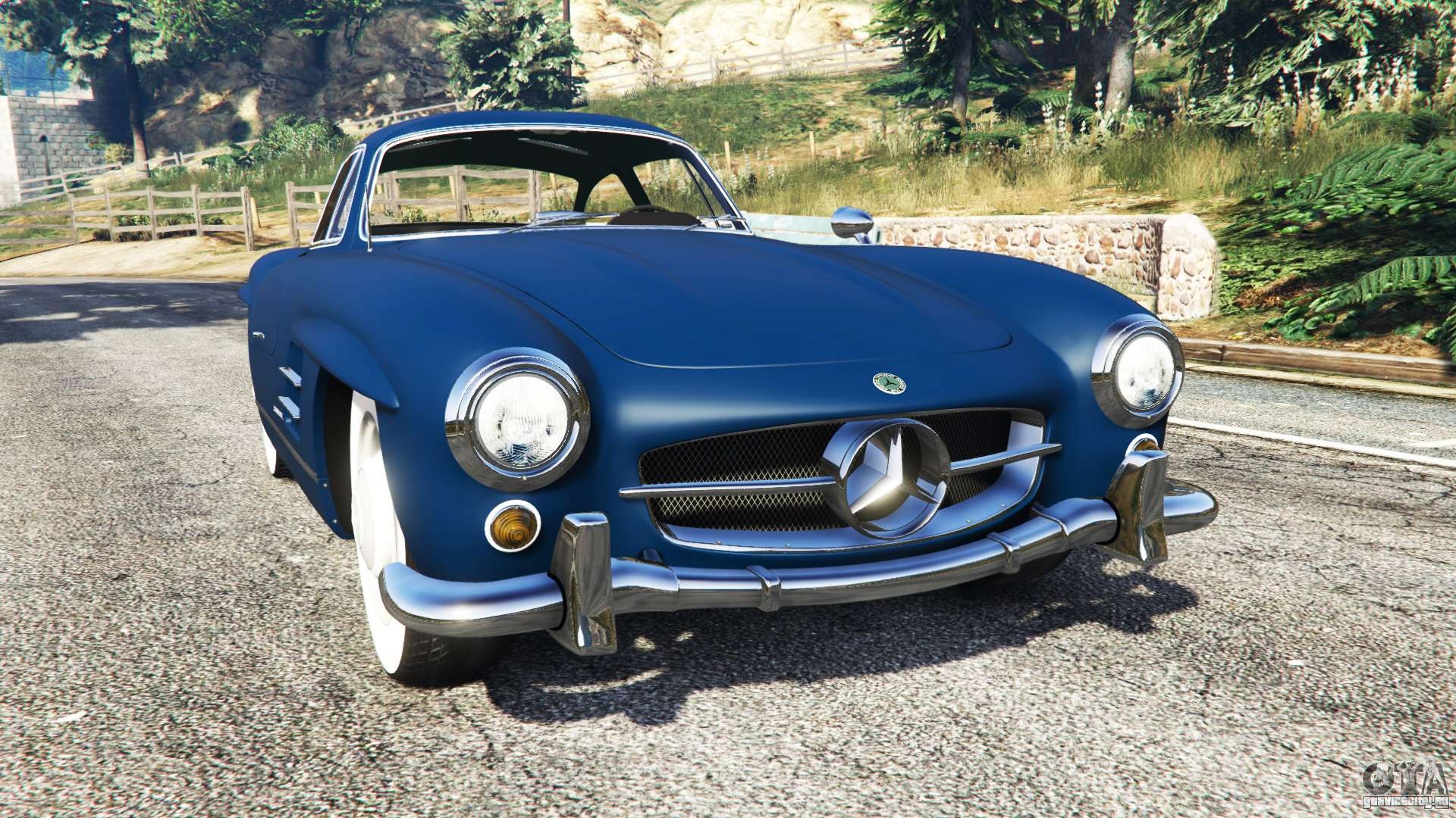 Mercedes benz 300sl gullwing 1955 gta 5 for Mercedes benz gullwing 1955