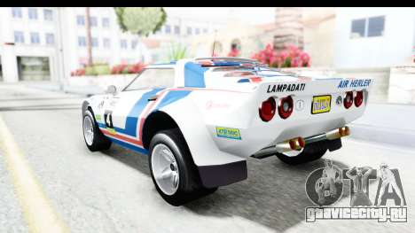 GTA 5 Lampadati Tropos Rallye для GTA San Andreas вид сверху