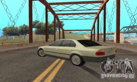 BMW 730 для GTA San Andreas вид сзади