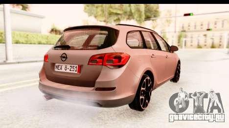 Opel Astra J Tourer для GTA San Andreas вид слева