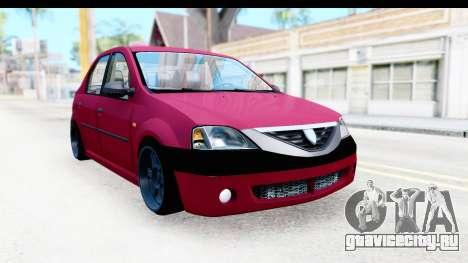 Dacia Logan Editie для GTA San Andreas вид справа
