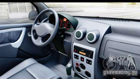 Dacia Logan Editie для GTA San Andreas вид изнутри