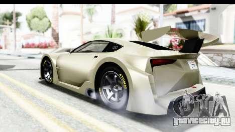 GTA 5 Emperor ETR1 IVF для GTA San Andreas вид сзади слева