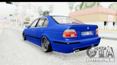 BMW 525i E39 M Tech для GTA San Andreas вид справа