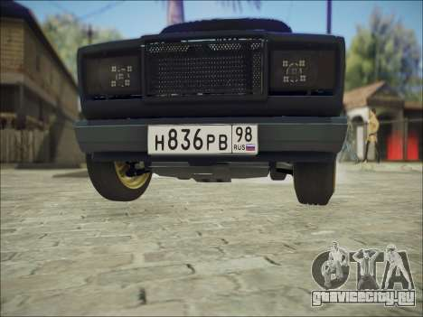 VAZ 2107 Black Jack для GTA San Andreas вид изнутри