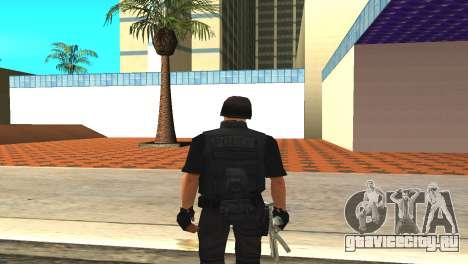 Оригинальный скин SWAT без маски для GTA San Andreas третий скриншот